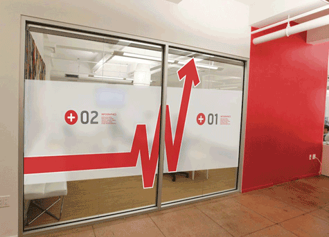branded office window film