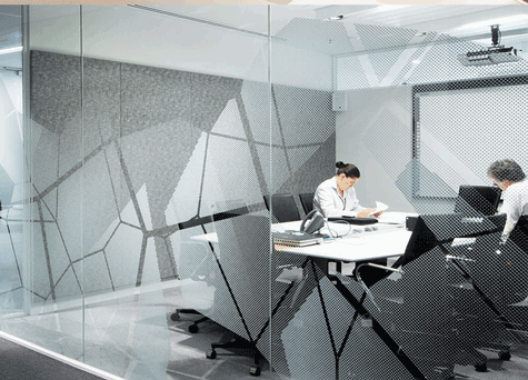 decorative office window film